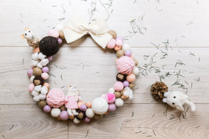 Wool Felt Wreath - 40cm
