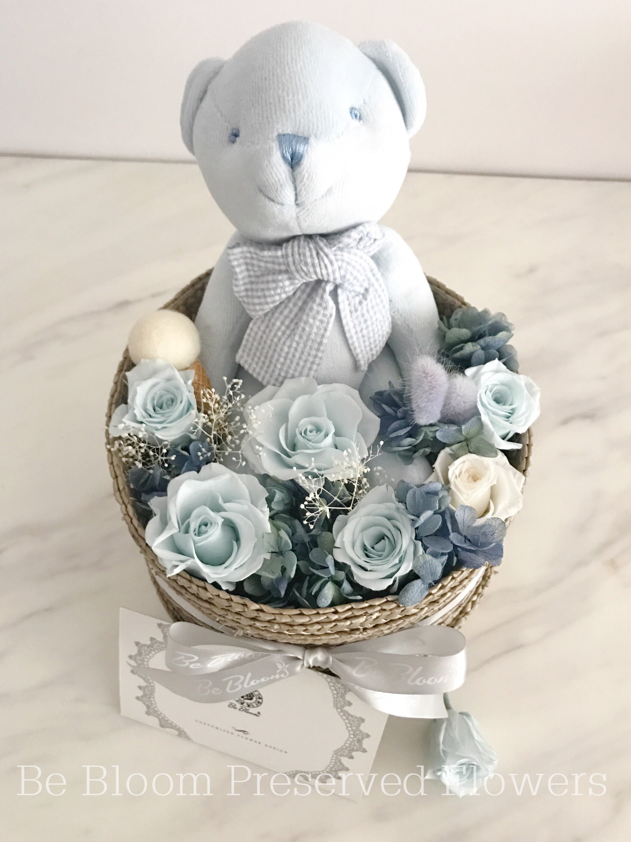 Flower Basket - Bear