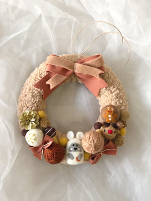 Christmas Wool Felt Wreath-35CM