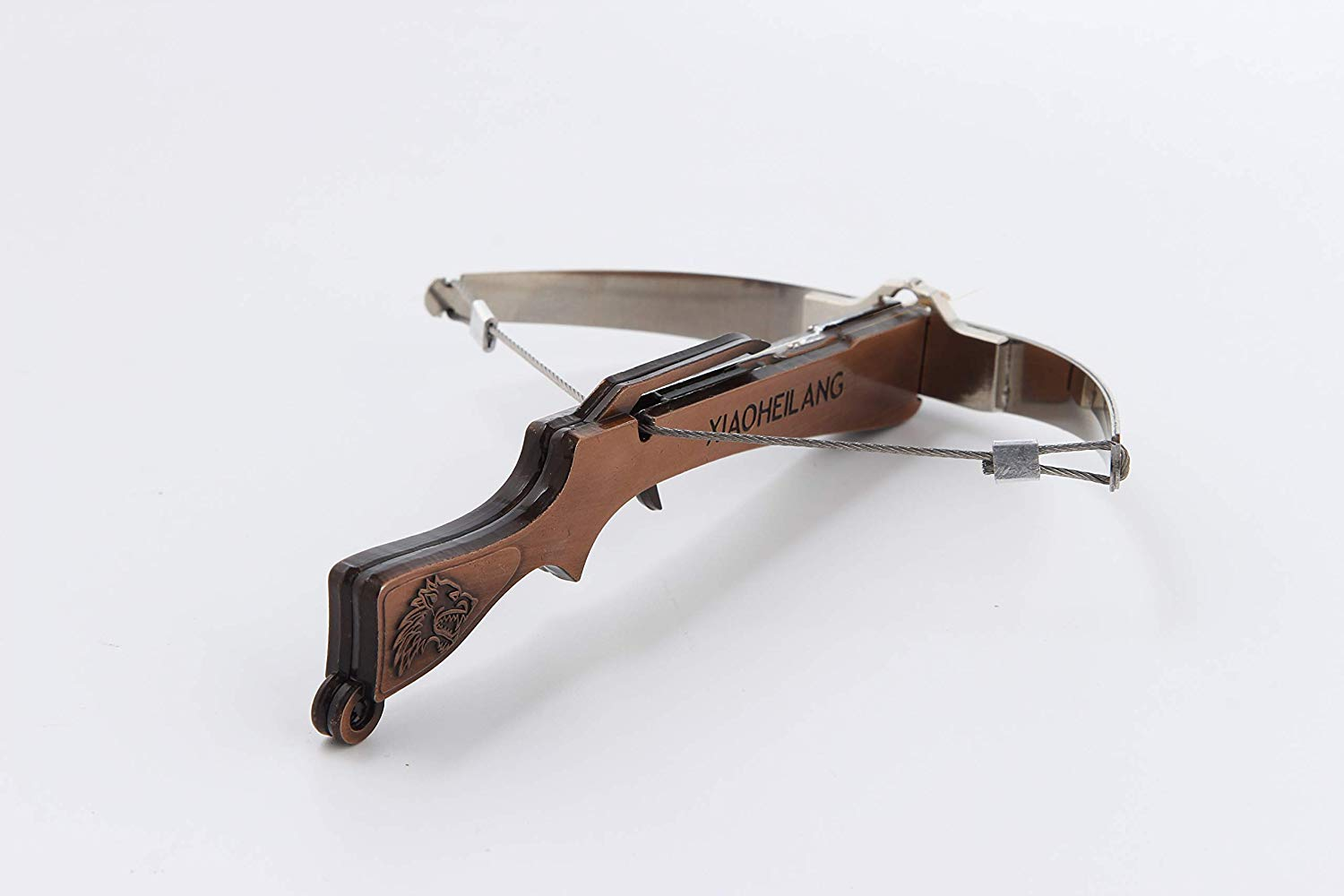 Mini Crossbow Stainless Steel Bow Piece Zinc Alloy Body 6 Pounds Pull