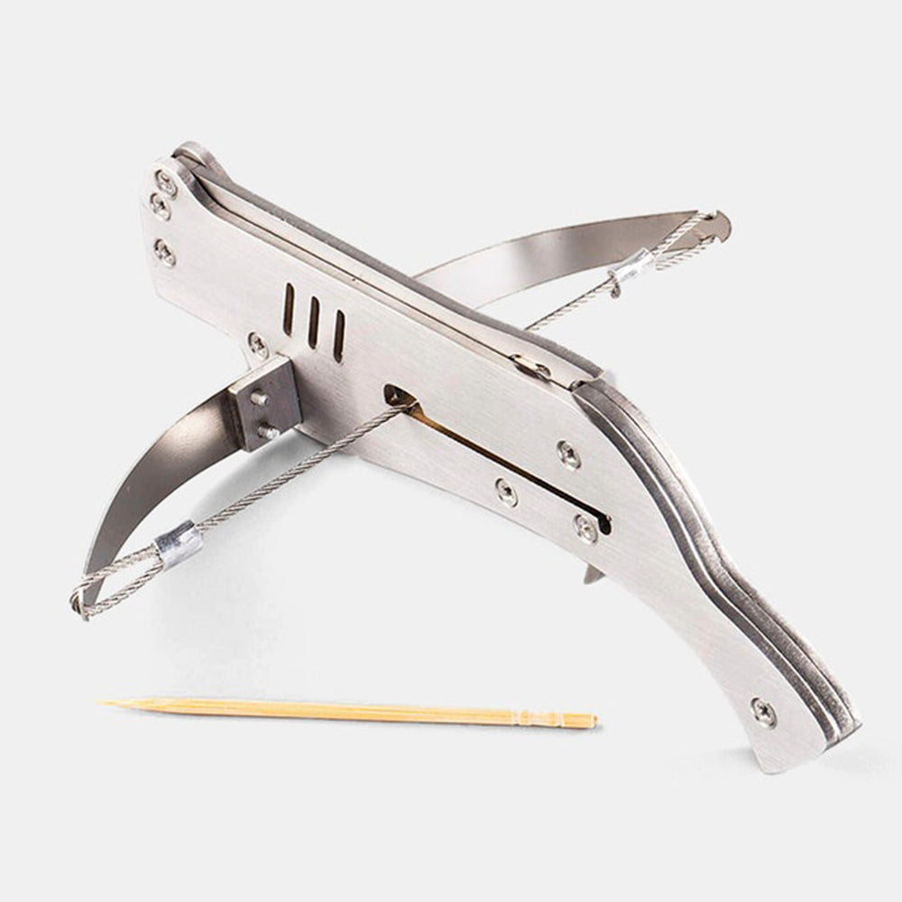 Mini Semi-automatic Stainless Steel Toothpick Crossbow - sunhilltoy