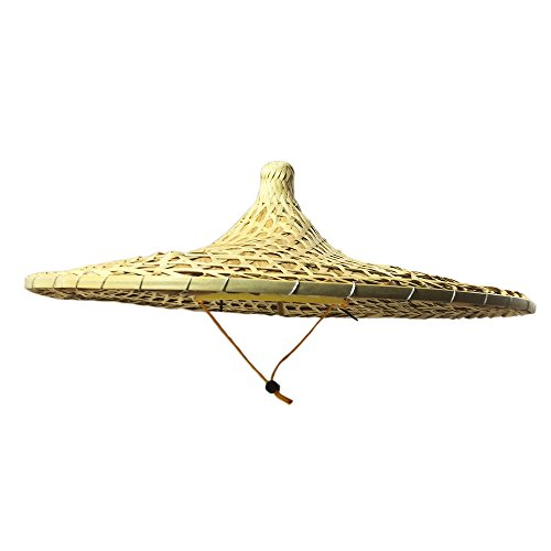 China Guangdong Local Characteristics Hand-woven Large Conical Hats Sun Hat 21 Inch