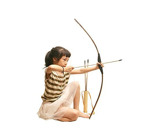 Bow and Arrow for Kids Out Door Play Toy Black 23.6 inch - sunhilltoy