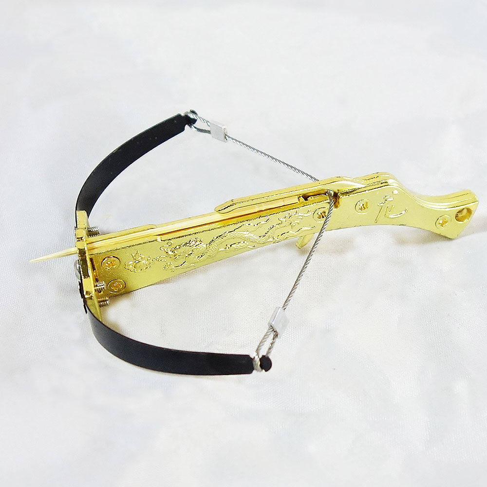 Mini Crossbow Metal Dragon Body Toothpick Crossbow