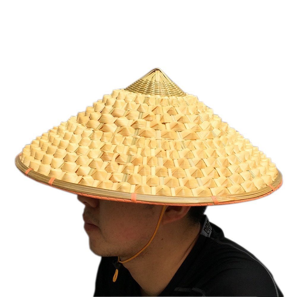 Chinese Oriental Bamboo Straw Cone Garden Fishing Hat Adult Rice Pineapple Hat - sunhilltoy