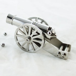 Mini Napoleon Cannon Metal Desktop Model Big Gun Artillery  Kit for Collection