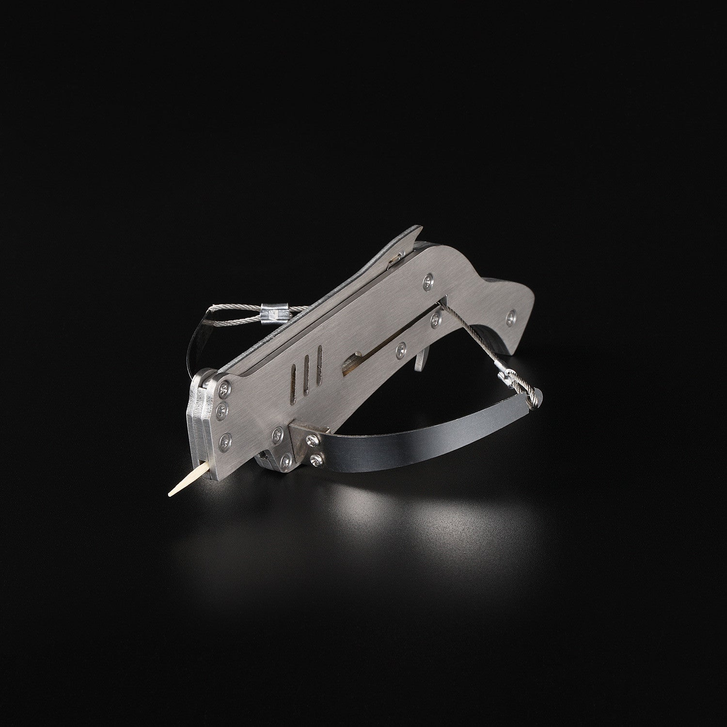 Mini Semi-automatic Stainless Steel Toothpick Crossbow