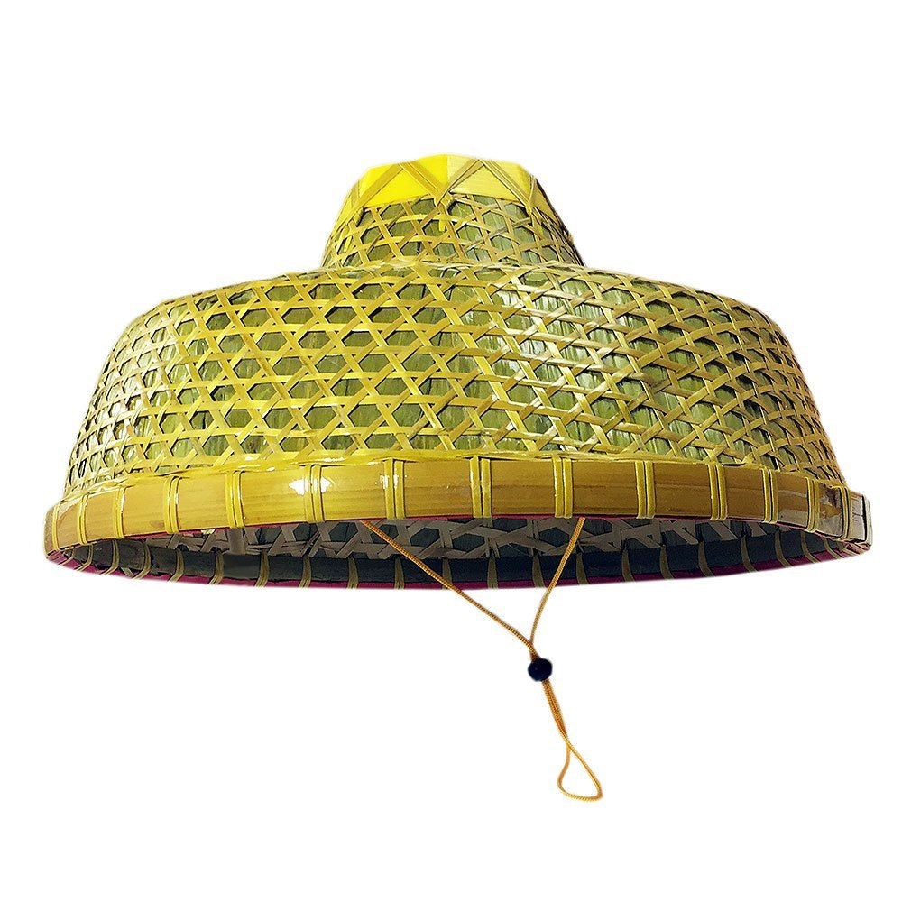 Chinese Natural Bamboo Braid Hats Ancient Conical Coolie Big Hat Fishing Hat - sunhilltoy