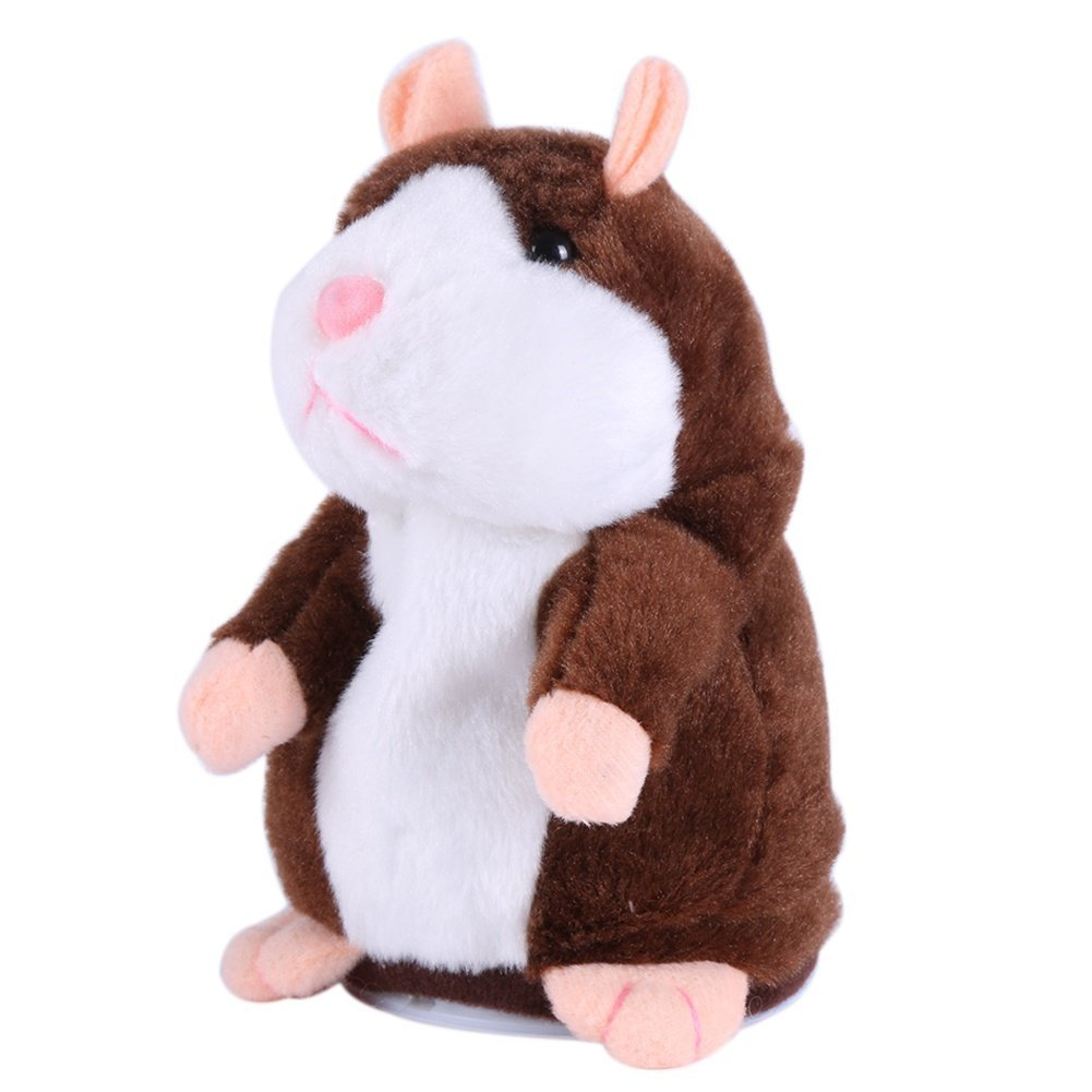 Talking Hamster Toys Repeats What You Say Electronic Pet Plush Buddy Mouse for Kids Children Gift - sunhilltoy