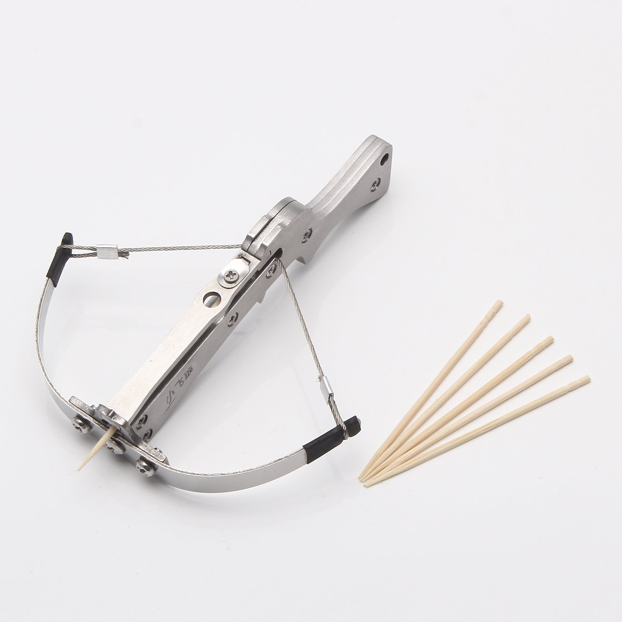 Mini Powerful Stainless Steel Crossbow  Launch Steel Ball or Toothpick