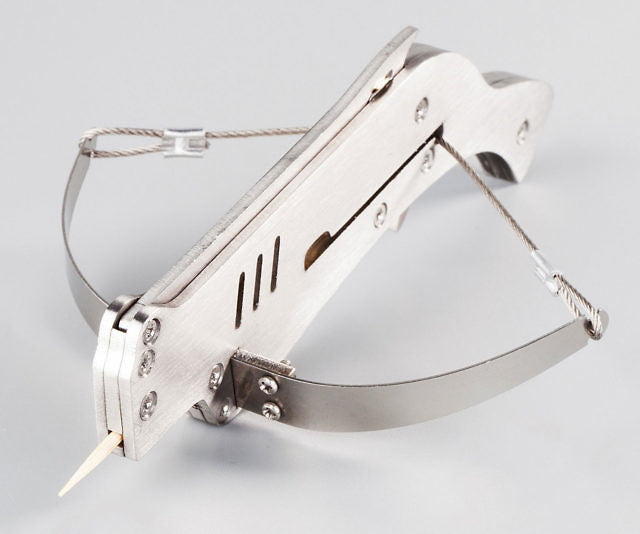 Toothpick Crossbows 6 Repeating Stainless Steel  Mini Bow and Arrow