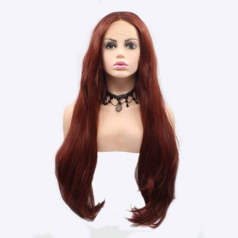synthetic lace front wig straight