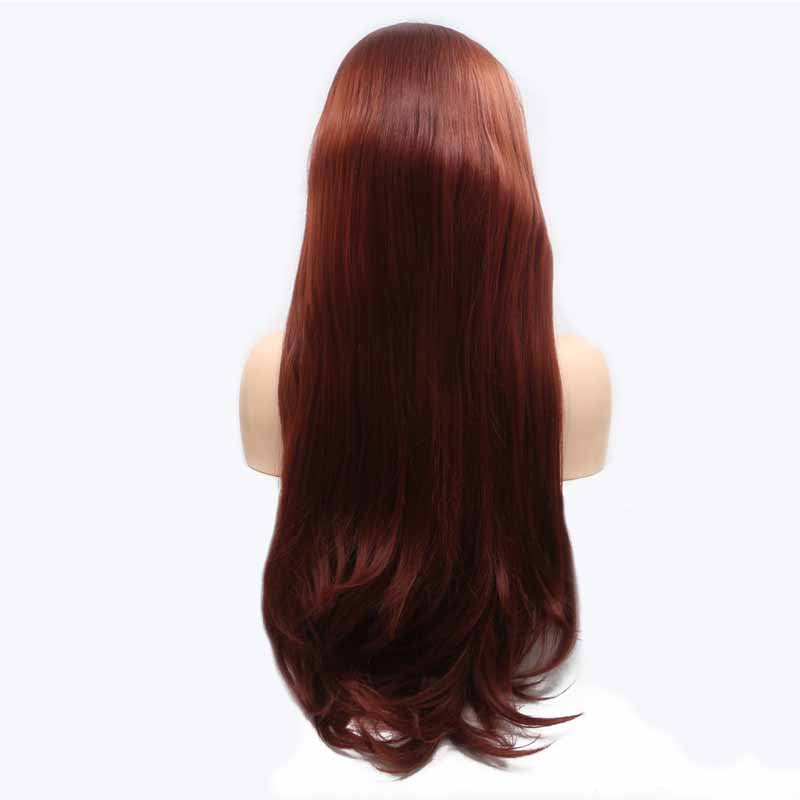 synthetic lace wig brown