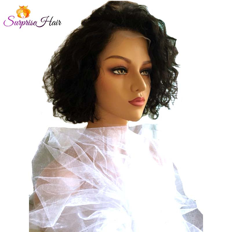 Middle Length Wave Bob pixie cut Lace Wig