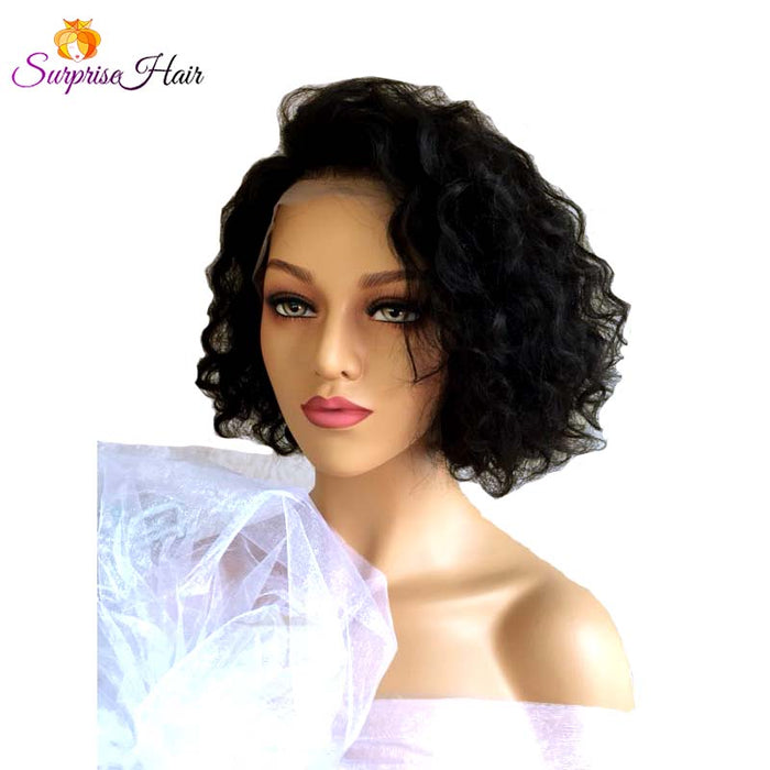 Middle Length  Bob curly Lace Wig