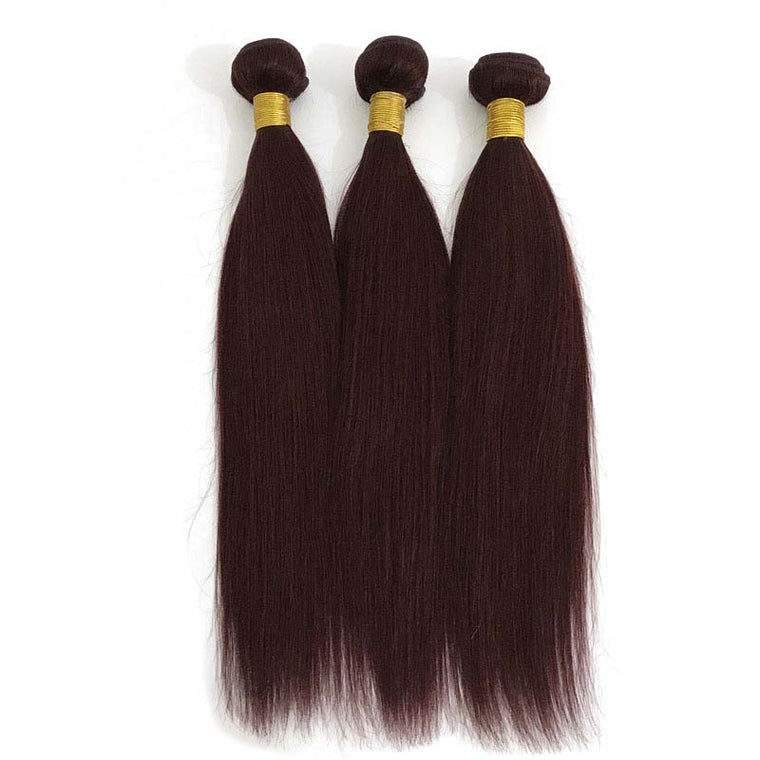 SurpriseHair #99J Color Straight Hair Wine Red Human Hair Bundles 3pc