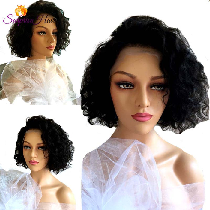 Middle Length Wave Bob Lace Wig