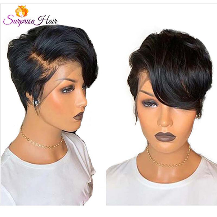 Short Pixie Cut Full Lace Wig Human Hair