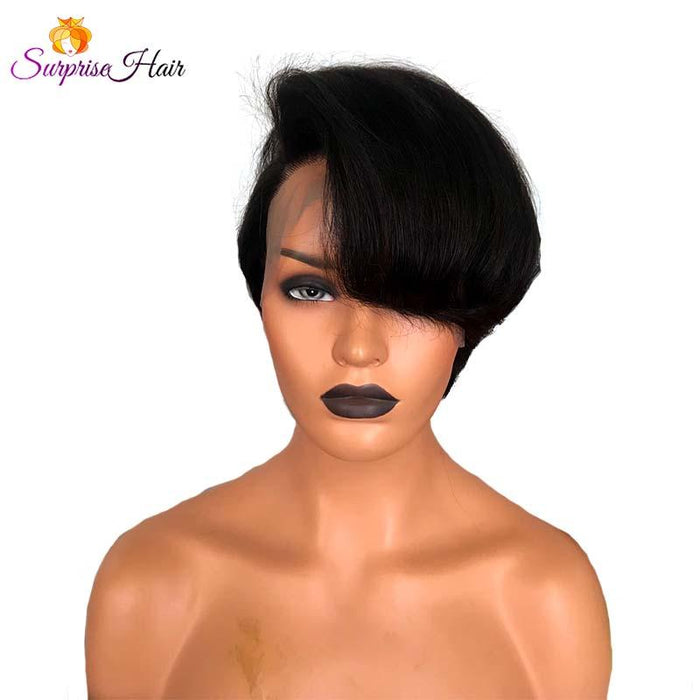 Short Pixie Cut Full Lace Wig Human Hair for black women