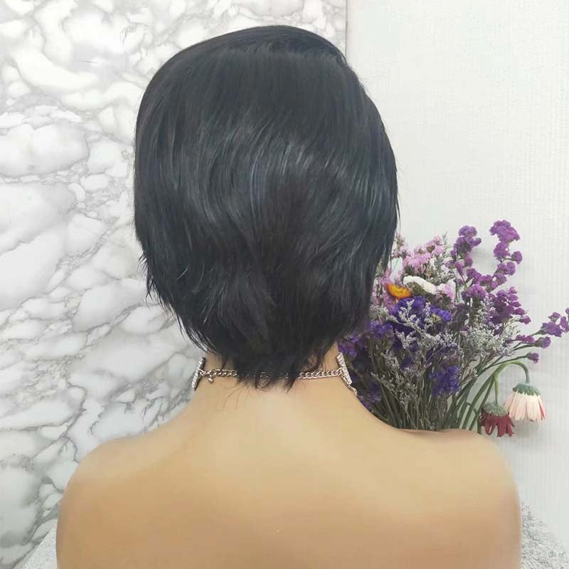 13x6 lace frontal pixie cut wig wave
