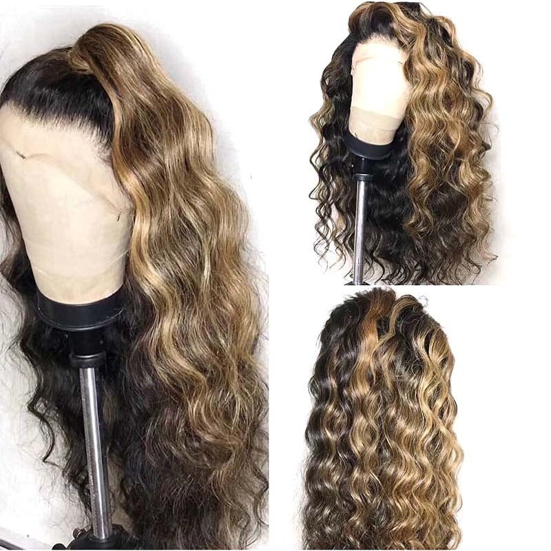 Surprisehair New Popular mixed color loose wave Wig Human Hair