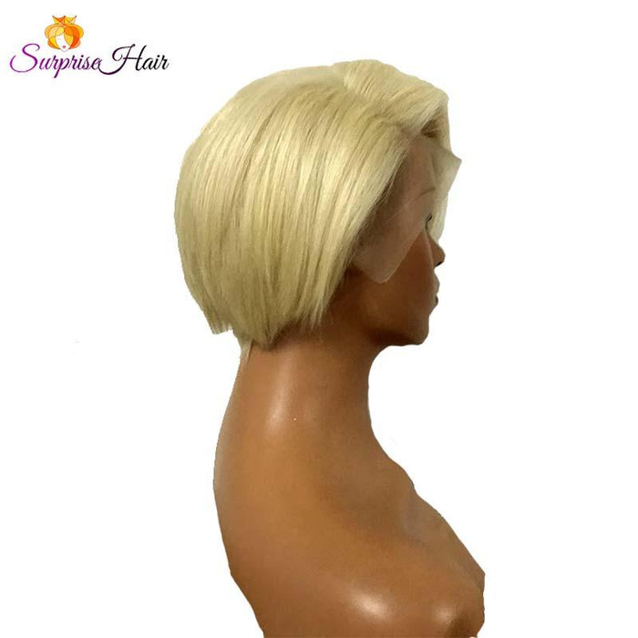 Short Blonde BOB Pixie Cut Wig