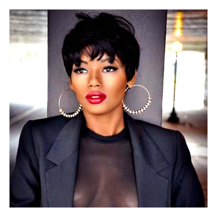 Best Straight Pixie Cut Lace Frontal Wig Human Hair for African American Surprisehair
