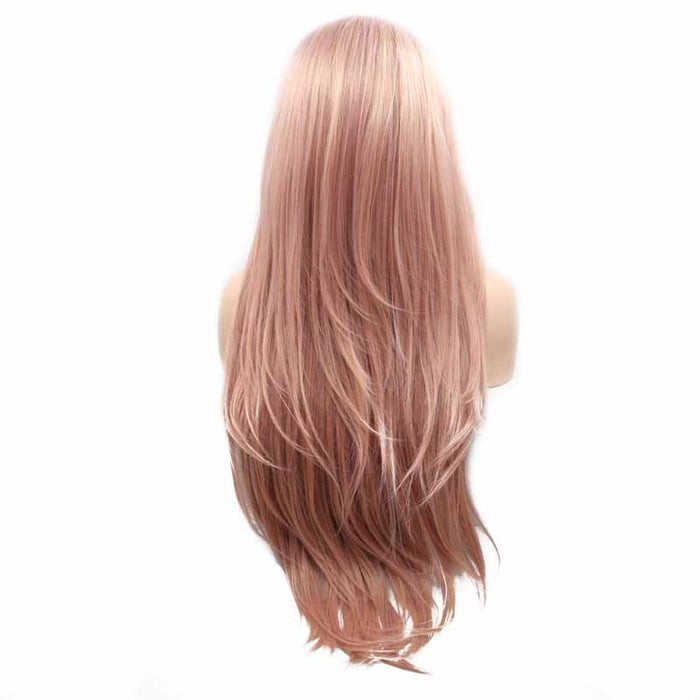 synthetic wig pastel pink straight