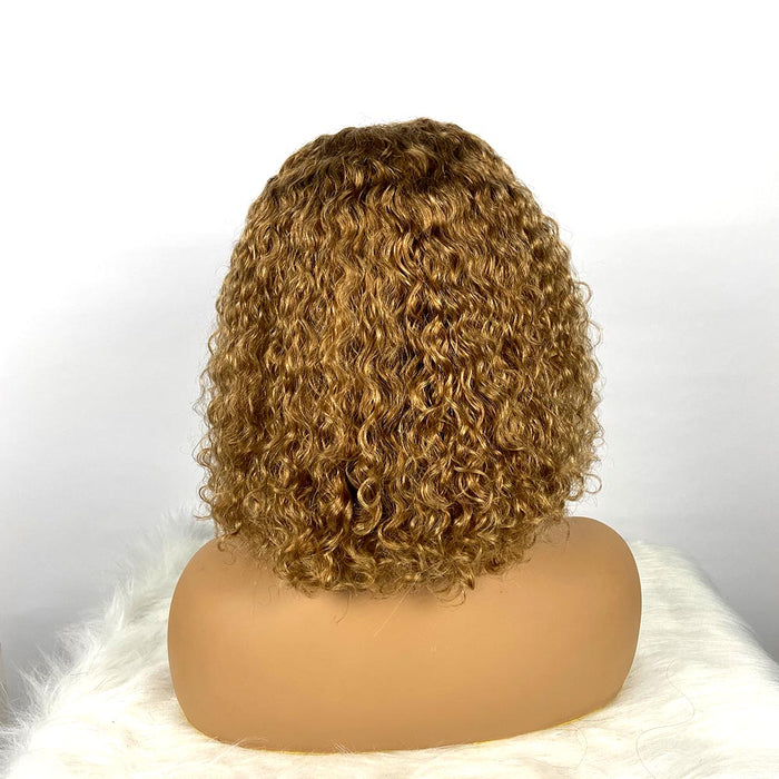 Brown curly bob wigs for African American