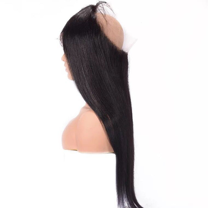 straight 360 frontals brazilian hair