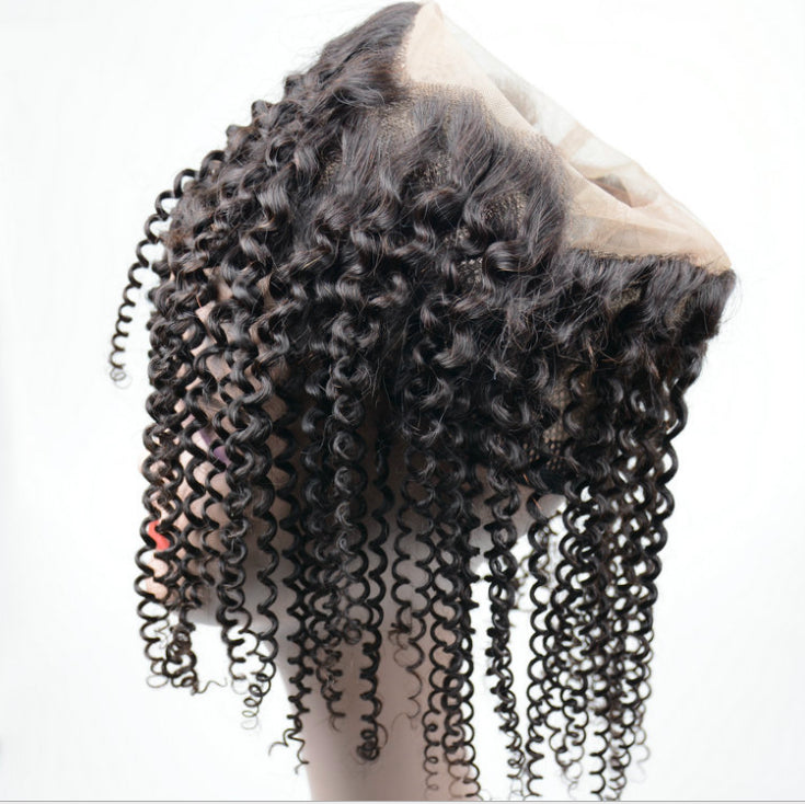 Surprisehair 9A Grade  360 lace Frontal Kinky Curly Brazilian Hair