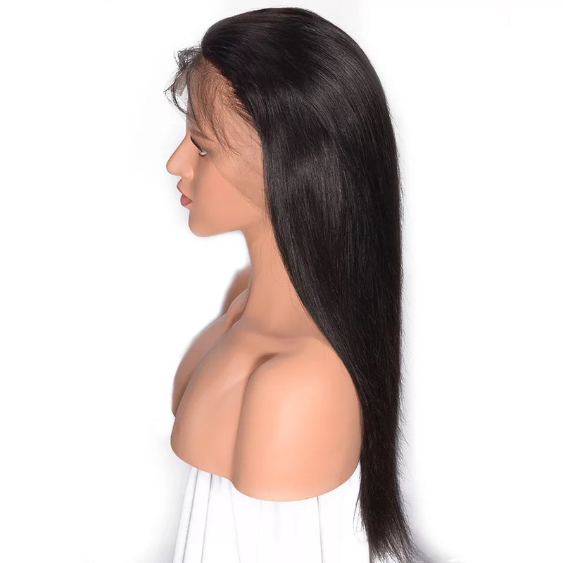 straight weave full lace wig