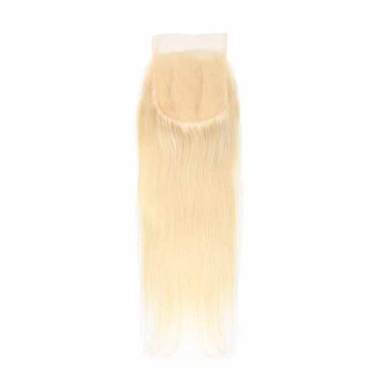 Surprisehair Best Blonde Lace Closure Straight 4x4 Free Part #613 Closure