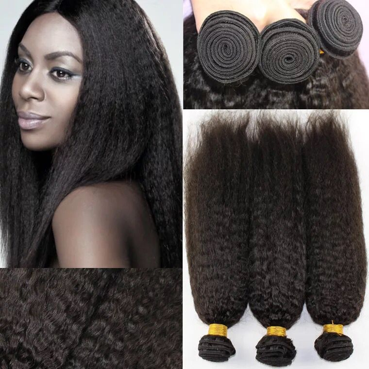 9A Peruvian Hair kinky straight virgin hair bundles 100% human hair could dye or iron 10''-30''