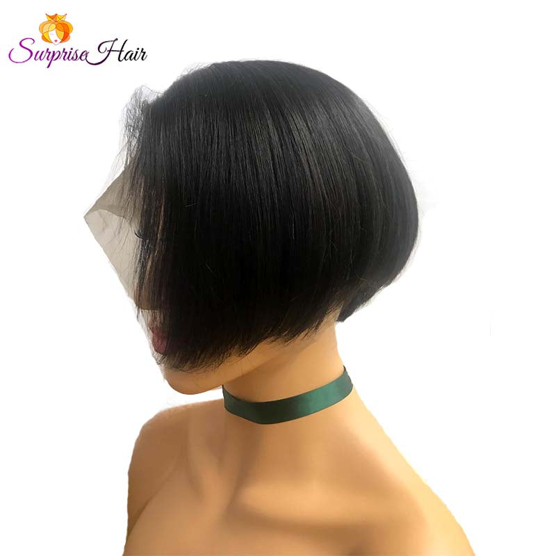 black women pixie cut wig straight