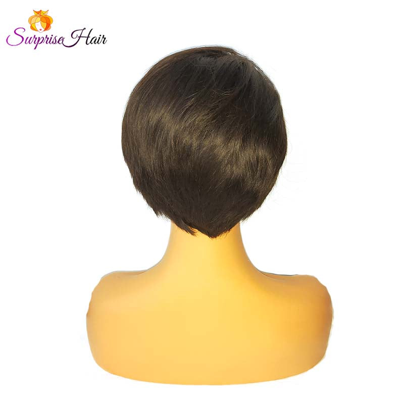 natural black short pixie cut wig for black women