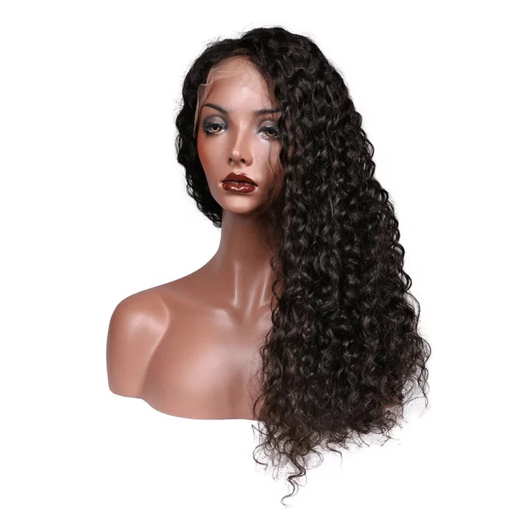 full lace wig deep curl measure