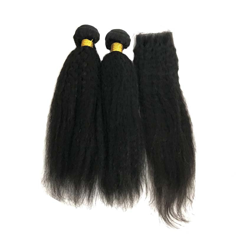 kinky straight hair with closure