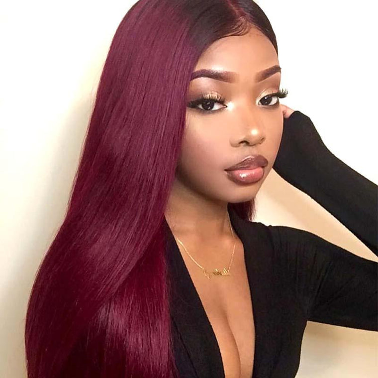 #99J Synthetic Hair Lace Front Wig Straight Long Surprisehair