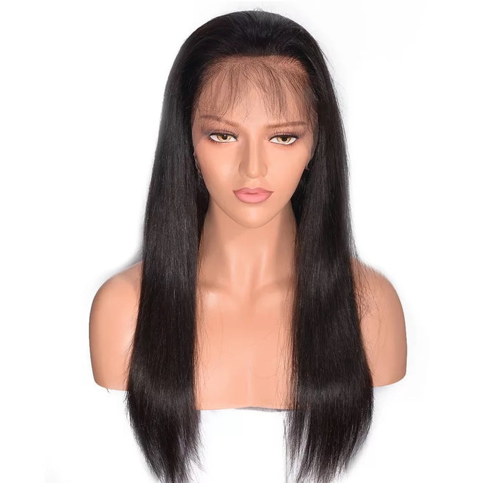 straight full lace wig with baby hair