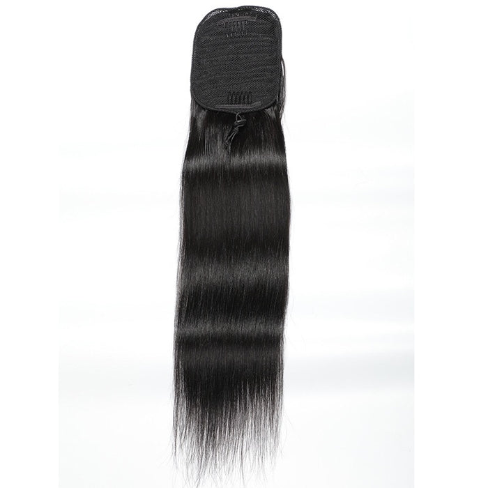 Black Brazilian hair straight ponytail