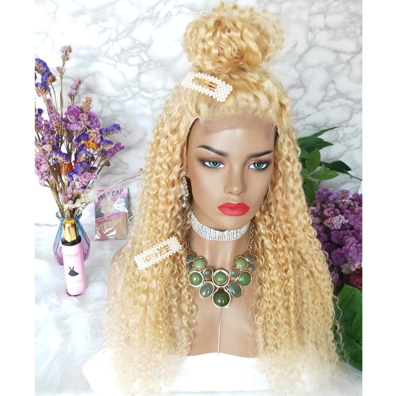 Blonde Deep Wave 4x4 Lace Closure Wig