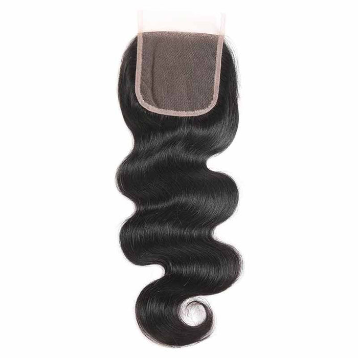 Body Wave Lace Closures Human Hair 4x4
