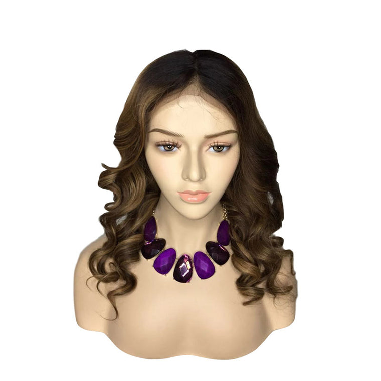 Surprisehair Colored Lace Wig 150% Density Loose Wave Human Hair