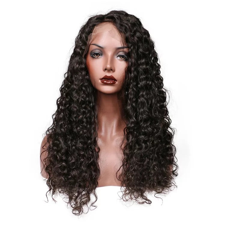 Surprisehair Deep Curly Full Lace Wig Peruvian Human Hair Natural Color