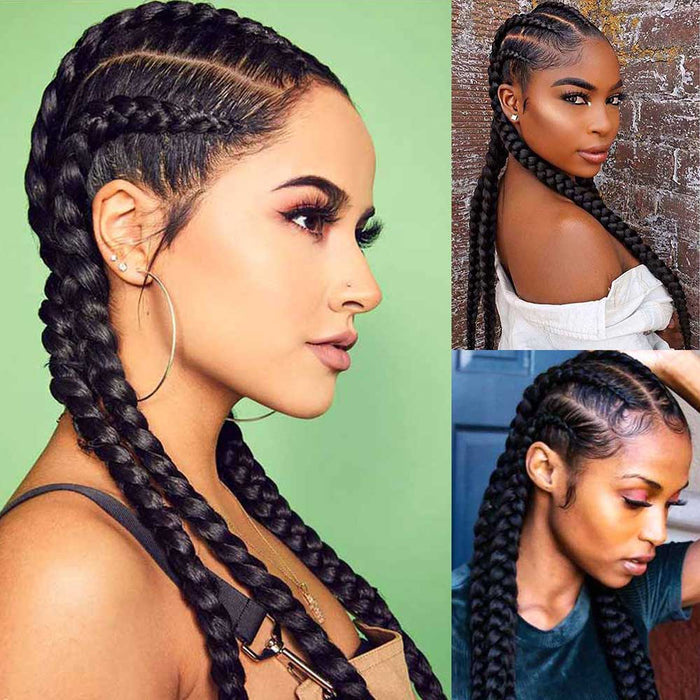 Heat Resistant Lightweight Synthetic Twisted Braids Wig For Black Women surprisehair