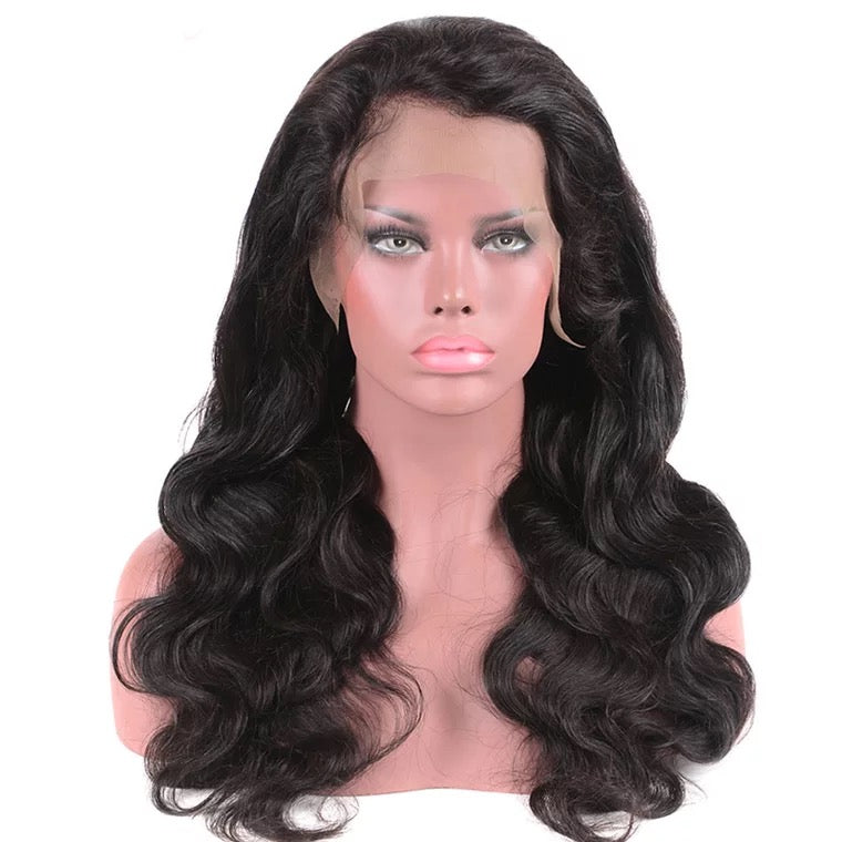 SurpriseHair Full Lace Wig Body Wave Free Part 130% Density 9A Peruvian Hair for Black Women