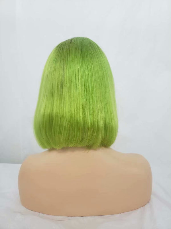 green lace front blonde ombre wig