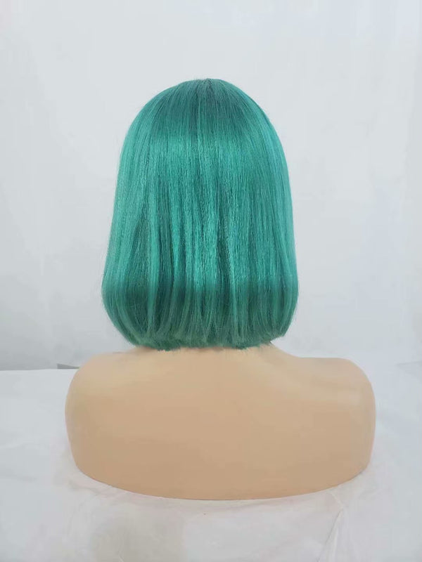 blue green lace front blonde ombre wig