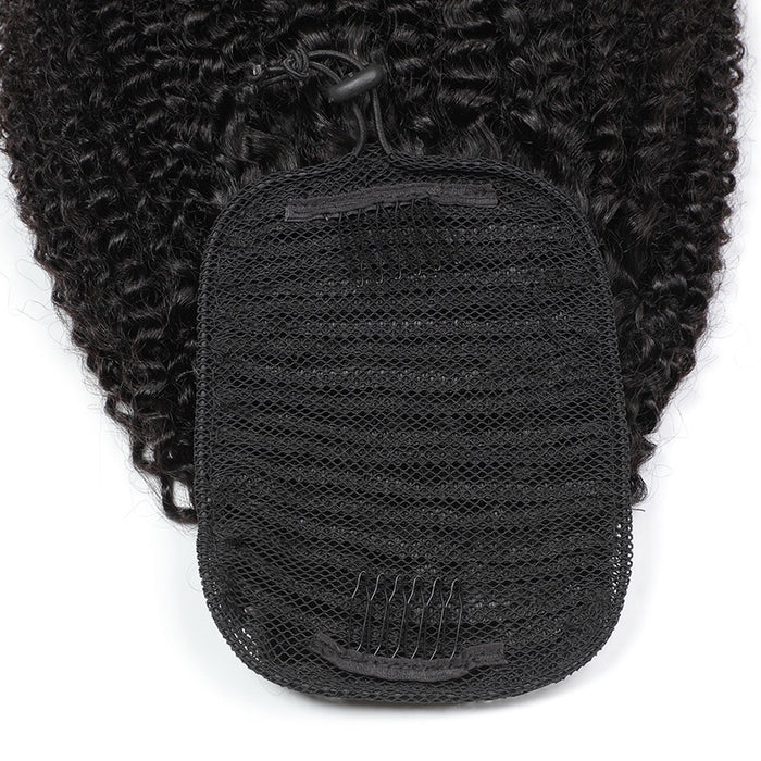 Natural Brazilian Hair Afro Kinky Curly Ponytail